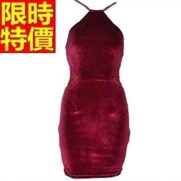 禮服 連身裙-性感細肩帶金絲絨修身包臀洋裝65aa41[獨家進口][米蘭精品]