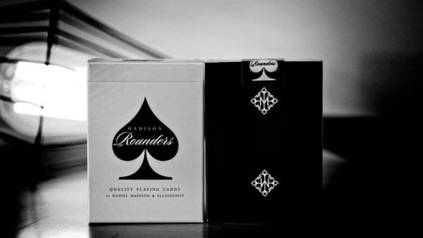 【意凡魔術小舖】Rounders Playing Cards by Madison - Black 浪子黑撲克