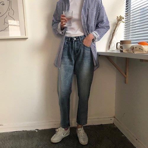 周董的店 顯瘦丹寧現貨供應  磨白水洗鉛筆九分褲