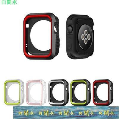 錶帶 手錶配件 Apple Watch錶帶適用蘋果手表保護殼iwatch1 2 3 4 5 6SE代胿膠殼表帶38 42--白开水 台北市