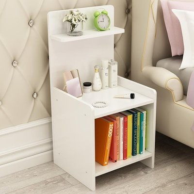 簡約現代床頭櫃簡易收納床櫃組裝小櫃子儲物櫃臥室宿舍組裝床邊櫃