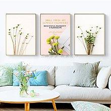 北歐現代簡約小清新花卉植物葉子粉色少女心裝飾畫畫芯畫布掛畫心(3款可選)