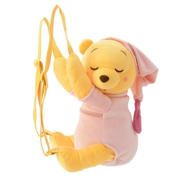 代購現貨 日本東京迪士尼商品 甜睡維尼玩偶背包  樹屋居家系列