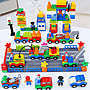 積木城堡 迷你廚房 早教益智兒童汽車積木大顆粒2拼裝3益智男孩子女孩6歲多功能玩具城市系列