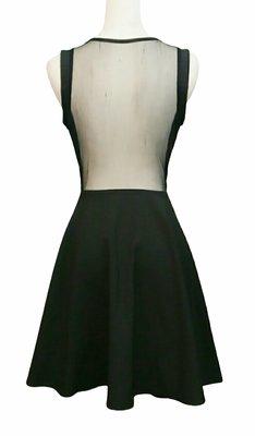※都會名牌※【Dizzy Darling】背部性感透膚薄紗黑色無袖洋裝 ~JU18