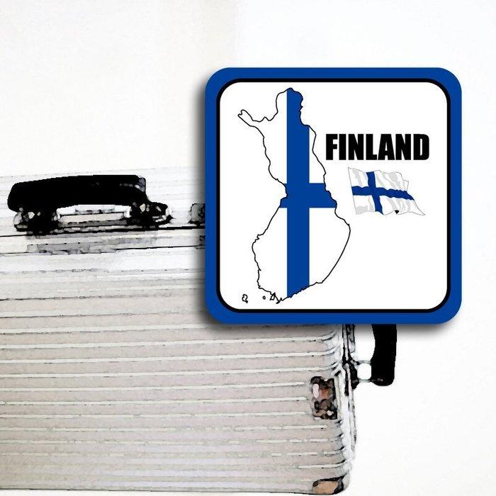 【國旗貼紙專賣店】芬蘭國旗領土防水、抗UV行李箱貼紙/各尺寸、多國都有客製/Finland