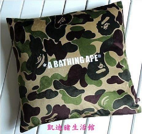 【凱迪豬生活館】A BATHING APE BAPE 抱枕 墊 綠迷彩 40x40cmKTZ-201019