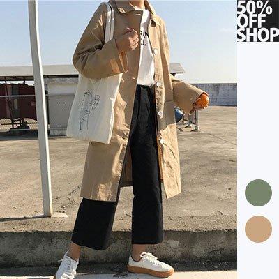 50% OFF SHOP 韓版寬鬆百搭大口袋風衣外套【004592BCAM】