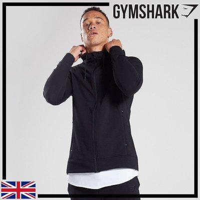 GYMSHARK PRINCIPLE ZIP HOODIE 極簡主義機能連帽外套-黑