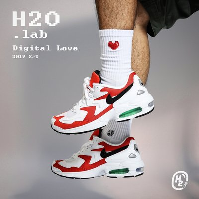 【A-KAY0】H2O.LAB 男女 SOCKS DIGITAL LOVE 數位愛心 中高筒襪 白【19SS03-WH】