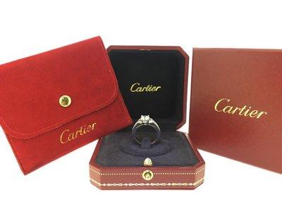 【益成當舖】流當品 寧夏夜市旁 超保值 鉑金1.03克拉卡地亞 Cartier 品牌鑽石戒 附原廠盒子保單 GIA證書