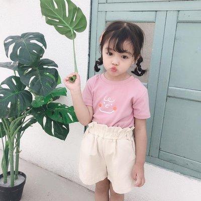1621 童裝2019夏季新品中小童短袖T恤韓版純棉寬鬆印花T恤百搭T