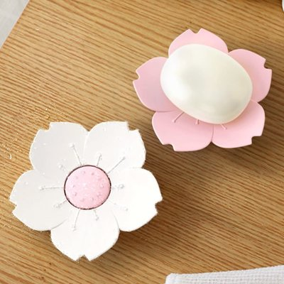 【04614】 櫻花造型 香皂盒 香皂盤