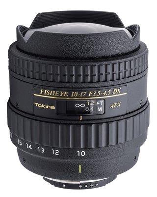 ◎相機專家◎ TOKINA AT-X107 10-17mm F3.5-4.5 DX Fish Eye 魚眼鏡頭 公司貨