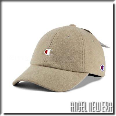 【ANGEL NEW ERA 】日線 Champion 台灣公司貨 C 老帽 軟版 毛呢 奶茶色 鴨舌帽 潮流 情侶帽