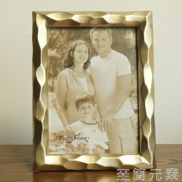YEAHSHOP 6寸7寸8寸 金色銀色創意幾何立體 相框畫框 影樓書房擺件Y185