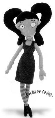 """貓仔仔美國童裝disney全新Frankenweenie科學怪犬Elsa van Helsing款22""""娃娃玩偶-免運費"""