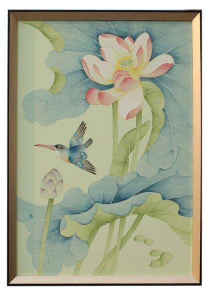 【芮洛蔓 La Romance】東情西韻系列手繪絹絲畫飾 CHF-006