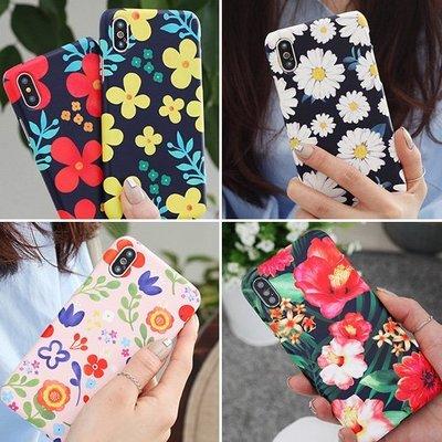 韓國 俏皮花紋 硬殼 手機殼│iPhone 5S SE 6 6S 7 8 Plus X XS MAX XR│z8356