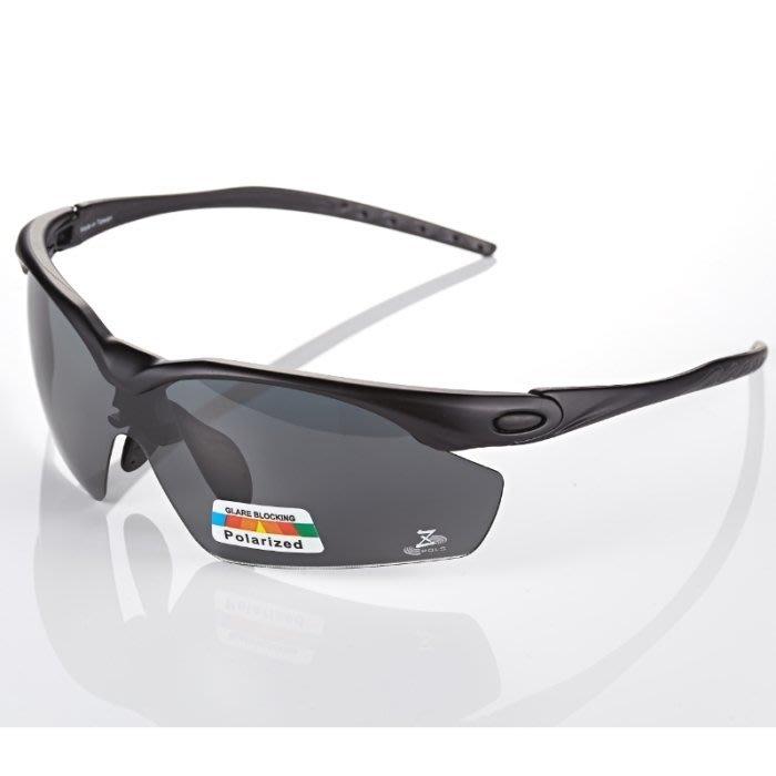 【視鼎Z-POLS太空纖維三代款】新一代TR彈性輕量材質搭載100%Polarized頂級偏光運動眼鏡!(消光黑款)