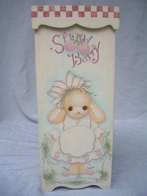 [ 丁銘畫廊 ]      漂亮的兔子   - 高方形盒 - 純手工彩繪 原作品