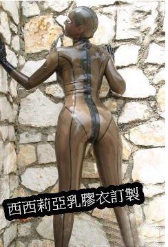 乳膠衣 透明黑全包窒息乳膠緊身衣 女全包乳膠緊身衣 女乳膠緊身