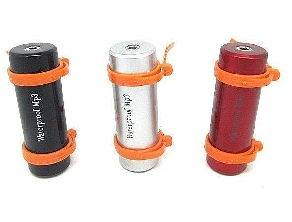 時尚運動 遊泳防水MP3 運動MP3 防汗跑步MP3 內建4GB MP3 內建FM 送臂掛套 黑/紅銀