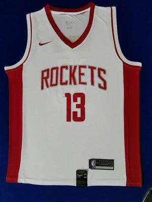 詹姆士·哈登(James Harden)  火箭隊球衣13號 白色