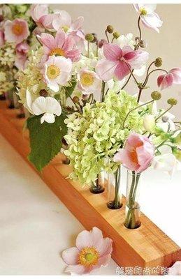 YEAHSHOP 創意歐式插花試管花瓶辦公室透明玻璃小清新飾花器家居餐桌擺件610876Y185