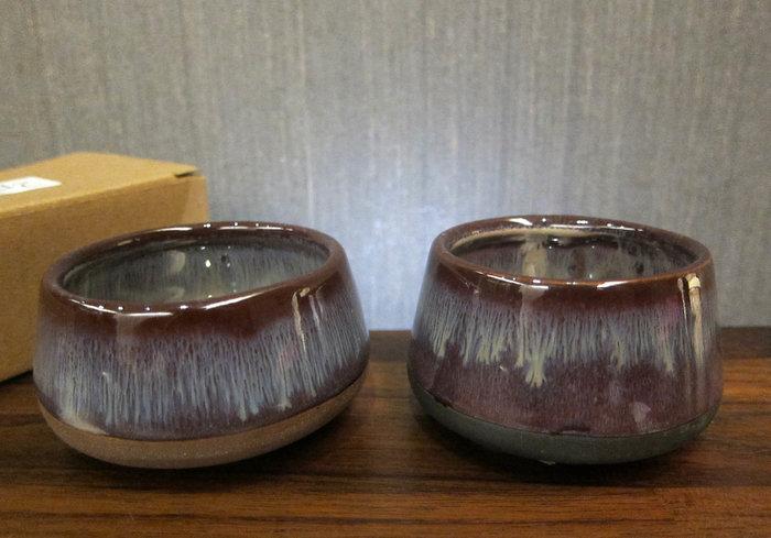 全新未使用 - 丹麥bloomingville歐若拉靜謐光影 陶瓷燭杯/小陶碗二件組(不含小蠟燭)