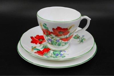 【旭鑫骨瓷】DUCHESS POPPIES系列 英國骨瓷 瓷器杯組(B.20)