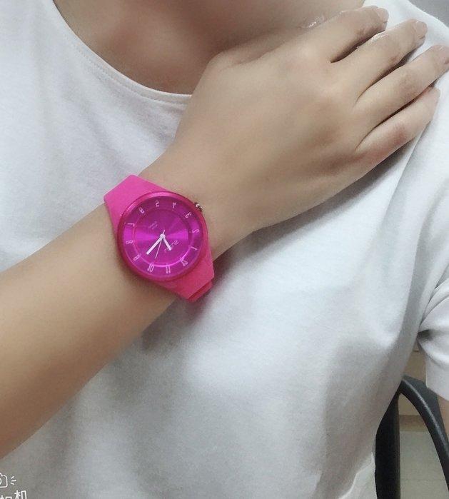 Lotus 亮麗立體指針休閒錶(TP2117M-01)-艷麗桃紅/39mm