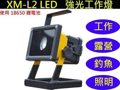 CREE XM-L2 LED 強光工作燈 手提燈 探照燈 釣魚燈 露營燈 登山 釣魚 緊急照明 使用18650鋰電池