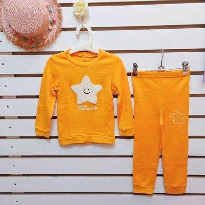 蜜寶貝【現貨-快速出貨】6917【男童-長褲】棉質 春款-黃色大星星棉褲 只賣褲子888