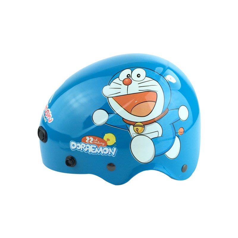 超商免運 台灣製造 卡通安全帽多啦A夢雪帽 不含鏡片 幼兒/兒童1/2安全帽半罩 正版授權 檢驗合格 K823DO-4