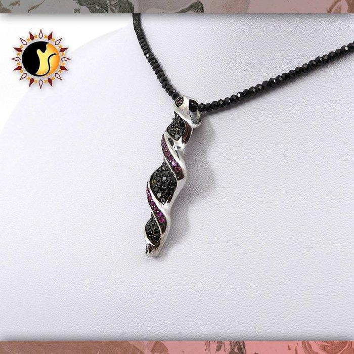☼§太陽貓水晶§☼【螺旋之墜】設計款 黑尖晶 紅尖晶 Spinel