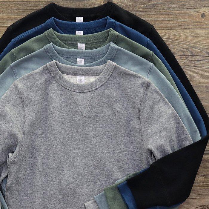 ☆R&M☆日系街頭風格簡約純色大學T長袖上衣(8色)~預購+現貨,兩件1400