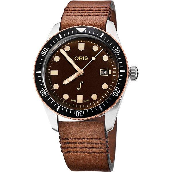 【高冠國際】Oris 豪利時 限量500只 琴宇謙揚 手錶 42mm 0173377204388-Set 青銅潛水機械錶