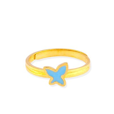 【JHT 金宏總珠寶/GIA鑽石】0.76錢 藍蝴蝶黃金戒指 (請詳閱商品描述)