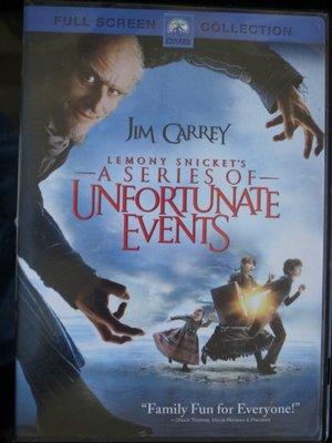 (二手) 美國帶回 正版DVD 高品質電影 A Series of Unfortunate Events 波特萊爾的冒險