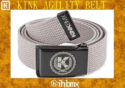 [I.H BMX] KINK AGILITY BELT 時尚流行休閒皮帶 灰色 特技腳踏車場地車表演車特技車土坡車