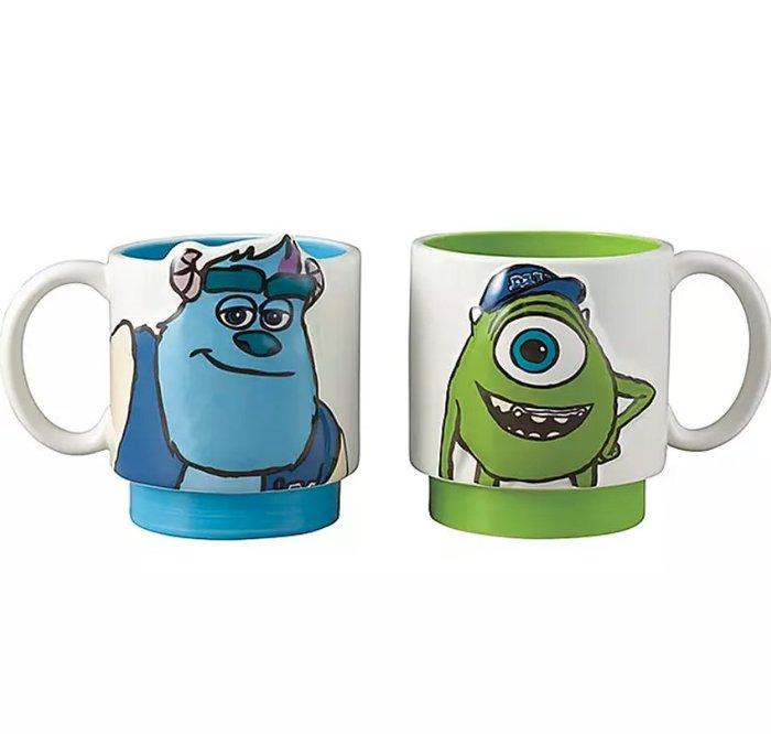 《FOS》日本 迪士尼 怪獸電力公司 陶瓷 馬克杯 對杯 咖啡杯 毛怪 大眼仔 禮物 可愛 限量 熱銷 2020新款