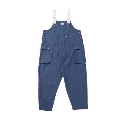 asusl SS21 MULTI POCKET DUNGAREES-VINTAGE BLUE 多口袋吊帶工裝褲-洗水藍