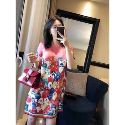 《巴黎拜金女》重磅真絲印花,帶一點光澤度,密度高寬鬆連衣裙
