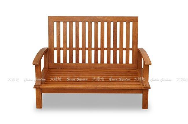 ◎ 大綠地柚木家具 戶外柚木沙發【 達莉兒雙人沙發(含墊) 】 實木沙發 100%柚木 典雅復古  ◎