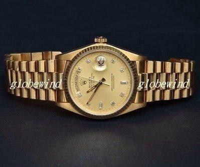 ROLEX勞力士18038.Day Date蠔式星期日誌機械錶.紅蟳.金錶