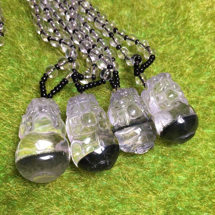 [滿藝精選] 招財強事業運❤️高品綠幽靈貔貅項鍊 帶聚寶盆 晶體清透 綁工精細