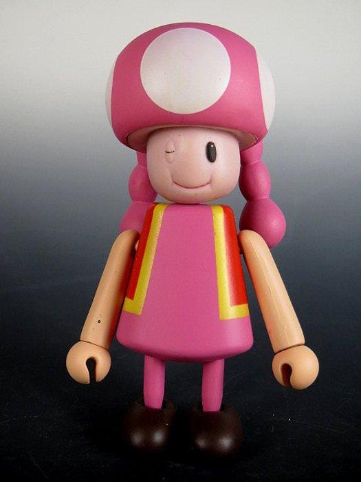 【 金王記拍寶網 】M248  SUPER MARIO 瑪莉歐系列 小木偶 公仔 奇諾比妹妹 一尊 罕見稀少