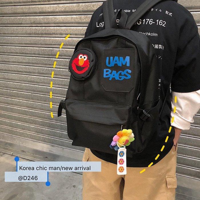 哈尼 免運韓版學院風卡通復古潮流雙肩包7409763 現貨 實拍