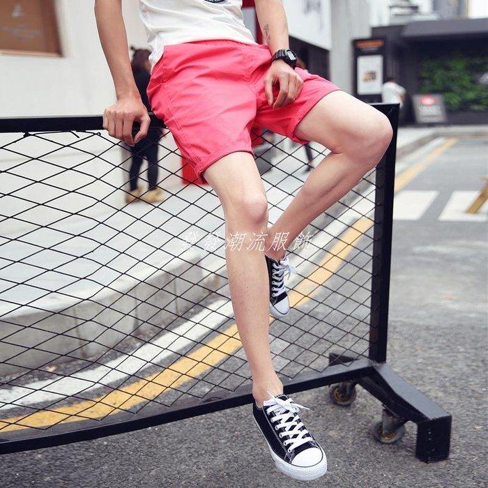 發發潮流服飾情侶正韓寬松運動短褲男士夏季新款純色休閒沙灘褲學生潮流五分褲